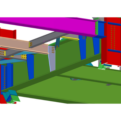 Steel Structure and Detailed Fabrication Drawings Using Tekla BIM